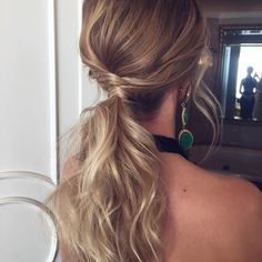 Tousled Low Ponytail | Hair Styles | Hair styles, Hair ...