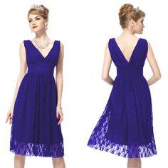 Ladies Lace V Neck Short Mini Evening Bridesmaid Cocktail Party Prom Dress 03410