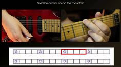 Guitar lesson. Play your first chord tunes, She'll be comin' 'round the ...