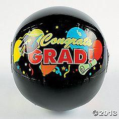6 Graduation Beach Balls Decorations Party Favors Games Supplies Class 2013 | eBay