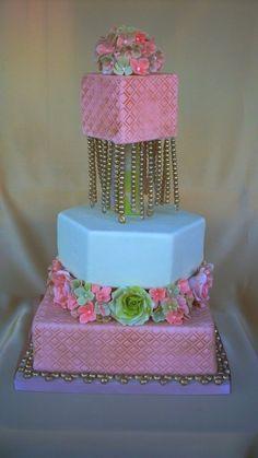 Bling Bling — Square Wedding Cakes