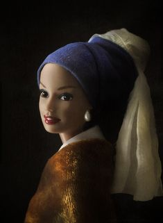 girl with a pearl earring   Mariel Clayton, after Vermeer's Girl with a pearl Earring from c ...