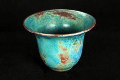 Jugtown Chinese Blue Pottery - North Carolina - 1930s Vintage Ceramic Vase