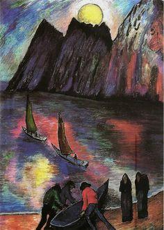 Marianne Werefkin, la grosse lune, 1923