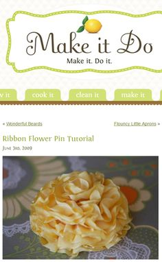 Ribbon Flower Pin Tutorial
