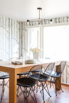photo via design sponge | Modernica Wire Chairs (currently back-ordered but check back soon)
