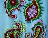 Paisley swirl- crochet pattern. €6.00, via Etsy.