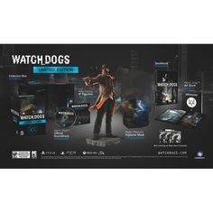 Watch Dogs -- Limited Edition (Sony PlayStation for sale online Console, Playstation, Ps4, Soundtrack, Book Art, Cool Things To Buy, Watches, Games, Dogs
