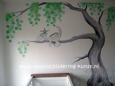 muurschildering draakje