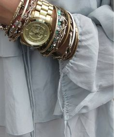 Complimenting the gold watch.