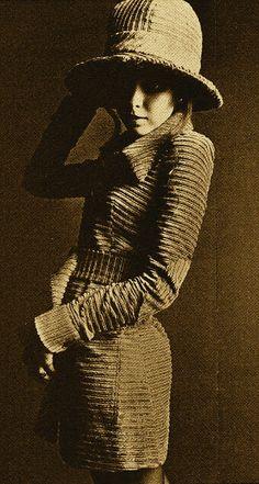 Stephanie Farrow modelling BIBA - photograph by Hans Feurer 1968