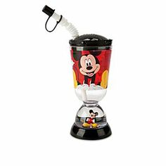 Disney Mickey Mouse and Friends Snowglobe Tumbler with Straw | Disney StoreMickey Mouse and Friends Snowglobe Tumbler with Straw - Mickey's acrylic sipper cup has a sparkling snowglobe built right into the base to inspire a smile at every meal!