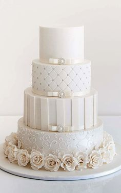 Wedding Cakes With Lace Design