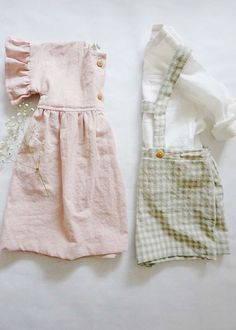 Beautiful Handmade Baby Toddler Clothing | DearLoa on Etsy Baby Kids Clothes, Baby & Toddler Clothing, Toddler Outfits, Handmade Baby Clothes, Baby Girl Fashion, Kids Fashion, Outfits Niños, Overall, Mode Style