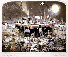 A fishing boat by Graham Clarke - Title unknown