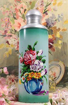 Vintage Home - Magnificent Vintage Roses Flask.