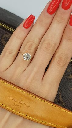 Round Solitaire Engagement Ring, Dream Engagement Rings, Morganite Engagement, Gold Engagement Rings, Engagement Ring Settings, Wedding Engagement, Engagement Ring Sizes, Delicate Engagement Ring, Popular Engagement Rings