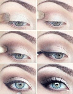 Eye make-up.cuz I love browns and creamy whites for eye make up. All Things Beauty, Beauty Make Up, Hair Beauty, Clean Beauty, Perfect Eyeliner, Perfect Eyes, Perfect Eyebrows, Nice Eyebrows, Bold Brows