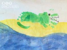 Green Alligator - Hand and Footprint