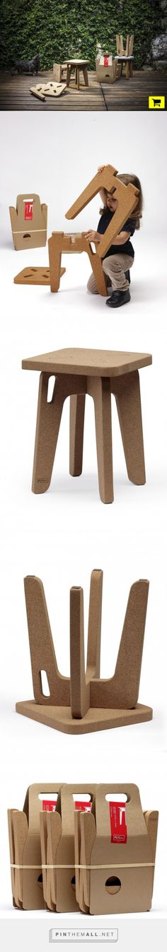paulo costa designs sit'abit cork stool jr for PLY&co - created via http://pinthemall.net
