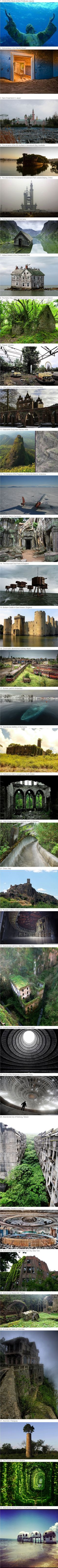 Most Beautiful Abandoned places on Earth. www.facebook.com/letsflee