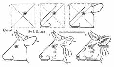 Thrifty Scissors: How to Draw: A Cow