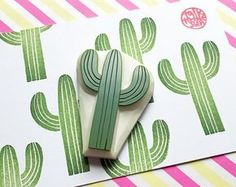 desert cactus hand carved by talktothesun cactus rubber stamp. desert cactus hand carved by talktothesun The post cactus rubber stamp. desert cactus hand carved by talktothesun appeared first on Urlaub. Clay Stamps, Kids Stamps, Autumn Crafts, Holiday Crafts, Cactus Plante, Cactus Gifts, Handmade Stamps, Handmade Gifts, Diy Gifts