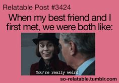 Haha Not true for me and my BFF, but still LOL! Funny Quotes, Funny Memes, Hilarious, Jokes, My Best Friend, Best Friends, Friends Forever, Beste Gif, Johny Depp