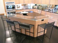 raised glass bar tops | glass railing glass shelving table tops unique options counter tops ...