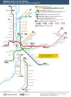 Budapeşte metro ağı Ligne Bus, Trains, Transportation, Map, How To Plan, Public Transport, Youth, Travel, Location Map