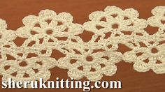 Crochet Flat Double Sided Lace Tape Tutorial 16  http://sheruknitting.com/videos-about-knitting/crochet-lace/item/751-crochet-floral-tape-tutorial-16-crochet-lace.html In this crochet video tutorial we will show you how crochet flat double sided lace tape. This lace you can use as belt, bracelet or how pattern for making of scarf.