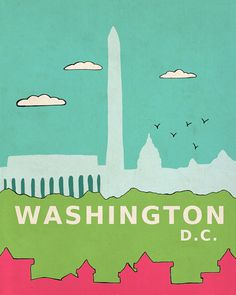 Washington D.C. in Pink // Travel Theme Nursery by LisaBarbero