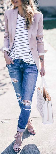 nice Stylish And Trendy Blazer Work Outfits to Wear