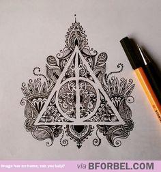 Insane Deathly Hallows art… Looks so good!