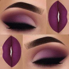 Pretty purple smokie eye.