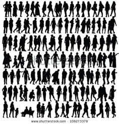 Free vector set of people silhouettes . All Free Download Vector Graphic Image from category Happy Fathers Day Images. Design by All-Silhouettes.com. File format available Ai & Csh.  Vector tagged as      3D people thumbs up, affectionate, ant silhouettes, Blurry People, boys, celebration, Character, child, Childhood, children, cockroach silhouettes,