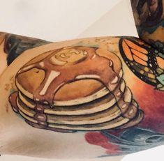 My pancakes Tattoo by June Jung Best Tattoo Ink, 3 Tattoo, Cool Tattoos, Professional Tattoo, Tatting, Cuff Bracelets, Pancakes, Nom Nom, Tattoo Ideas