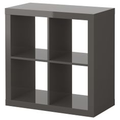 this would be perfect for stashing some toys and arts and crafts things in the living room. you could get some cute bins and leave this next to the little playtable. maybe even paint the playtable grey to match? EXPEDIT Shelving unit - high gloss gray - IKEA $50