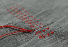 Sashiko stitch by mairuru_siesta, via Flickr