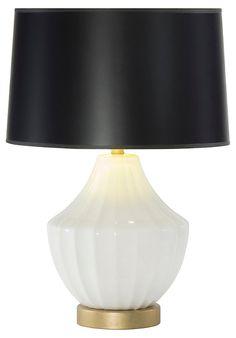 Reiley Table Lamp, Black Shade | Illuminating Options | One Kings Lane
