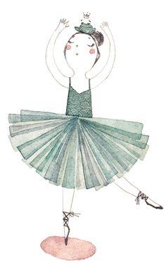 Sö-l'y-laisse : le blog de Solenn Larnicol: ballerine et batracien