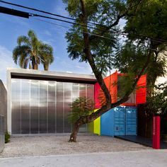 Painted Shipping Containers Decameron Marcio Kogan Front Street