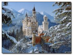 Neuschwanstein Castle in Bavaria.  The inspiration for Sleeping Beauty's Castle.