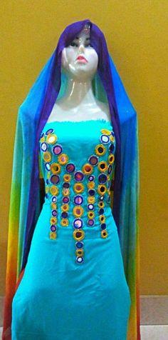 Mirror Work Blouse, Elsa, Disney Princess, Disney Characters, Dresses, Vestidos, Dress, Disney Princesses, Gown