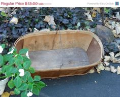 Garden Basket Primitive Rustic Farmers Market or Vegetable Shopping Spree