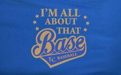 Copy of Blue Custom 1 Color I'm All abut the Bass Meghan Trainor Kansas City KC Royals Fan Tee Tshirt T-Shirt