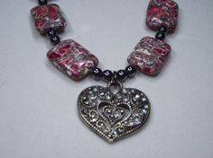 Heart Necklace 20in by IroquoisDreams on Etsy