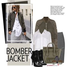 How To Wear Street Style Bomber Jackets Outfit Idea 2017 - Fashion Trends Ready To Wear For Plus Size, Curvy Women Over 20, 30, 40, 50