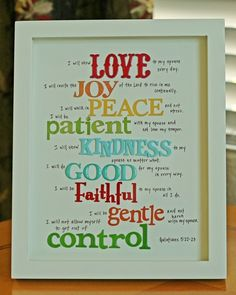 THE Fruit of the Spirit.....love the mix of words, colors and fonts :)