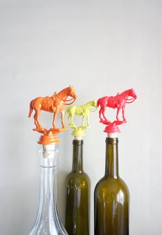 Saddled Horses Vintage Trophy Cork Wine Bottle by Caprock Studio (via Etsy).